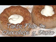 Tarta Flan de Chocolate y Queso- Fase Ataque Flan, Chocolate, Queso, Bagel, Doughnut, Bread, Desserts, Cacao, Dukan Diet Recipes