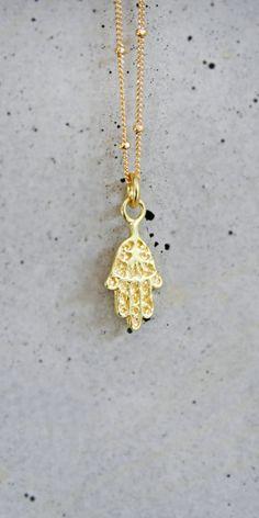 gold hamsa chain