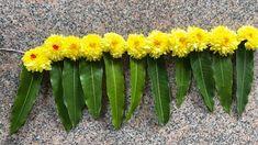 Mandir Decoration, Ganpati Decoration Design, Thali Decoration Ideas, Leaf Decoration, Ganapati Decoration, Backdrop Decorations, Diy Wedding Decorations, Flower Decorations, Desi Wedding Decor