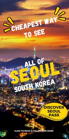 If you want to travel to Seoul, South Korea but you are on a tight budget, Discover Seoul Passes can be your cheapest way to see all of Seoul on a budget. Know everything about Discover Seoul Passes and how to maximise them with budget itineraries that take you to the best Seoul attractions free of cost. We also answer questions related to visiting Seoul and some of its biggest attractions and give free itineraries that let you see most of the best places without spending much. Budget Travel, Travel Tips, Travel Destinations, Seoul Attractions, Visit Seoul, Tight Budget, Travel Information, South Korea, Travel Inspiration