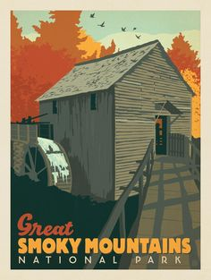 Anderson Design Group – American National Parks – Great Smoky Mountains National Park: Cable Mill