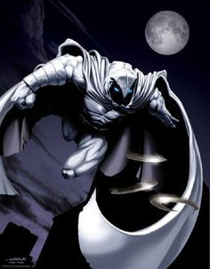 Moon Knight by Scott Johnson Art based on provided reference: David Finch drawing [Marvel] Marvel Comic Character, Comic Book Characters, Marvel Characters, Comic Books Art, Comic Art, Character Art, Marvel Dc, Marvel Comics Art, Marvel Heroes