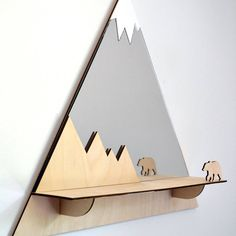 Are you interested in our wooden decorative bear mirror ? With our wall shelf for nursery you need look no further.