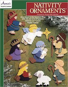Nativity Ornaments ~ easy level ~ each design measures approx. x t x ~ plastic canvas ~ PLASTIC CANVAS Plastic Canvas Books, Plastic Canvas Crafts, Plastic Canvas Patterns, Nativity Ornaments, Nativity Crafts, Nativity Scenes, Annie's Crochet, Plastic Canvas Christmas, Ornaments Design