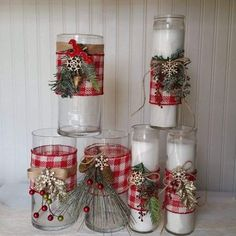 Dollar Tree Candles, Dollar Tree Crafts, Christmas Projects, Holiday Crafts, Christmas Ideas, Pillar Candles, Holiday Decor, Christmas Candle, Simple Christmas