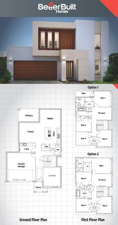 The Jameson: Double Storey House design. The Jameson: Double Storey House design. New House Plans, Dream House Plans, Modern House Plans, Small House Plans, Modern House Design, House Floor Plans, Double Storey House Plans, Double House, Casas Containers