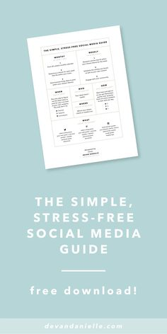 Building a successful brand, whether you're a blogger or a business owner, really comes down to one thing: consistency. You can't build a thriving community or get brand recognition without consistently putting yourself out there. One of the best ways to show up consistently is through social media. Get your FREE Simple, Stress-Free Social Media Guide!
