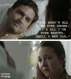 Our girl molly and captain james Our Girl Bbc, Ben Aldridge, Girls Series, Tv Series, Lights Camera Action, Bbc One, Girls Hand, Great Films, I Meet You