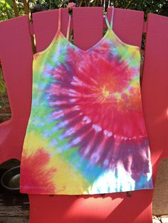 HAND COLOR MIXED Tie Dye Tank Top