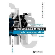 Introduction aux théories de la communication: Jean-Pierre Meunier, Daniel Peraya Communication, Stone, Livres, Communication Illustrations