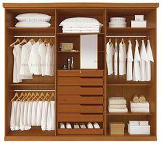 Moderna walk in closet, diseño de vestuario en Armarios de Muebles ... …