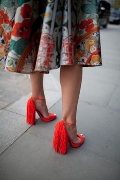 Fringe Heels http://wwd.com/fashion-news/they-are-wearing/gallery/they-are-wearing-fancy-footwear-10278163/