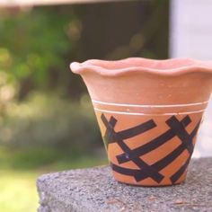 Using mod podge on terracotta pots is something that you can do to make sure an item is ready for the outdoors.