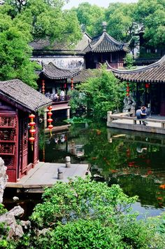 Classical gardens of Suzhou (Suzhou gardens). Jiangsu Provence, Eastern China. Chinese gardens and greens are beautiful.