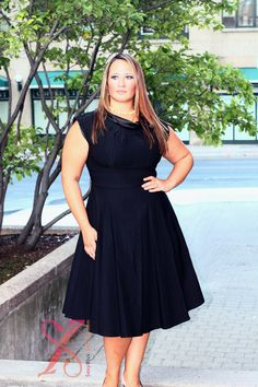 Stop Staring Tiffany Plus Size Dress LBD