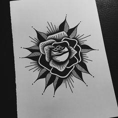 Black rose for my business cards! ⬛️ #tattoo #tattoolife #tattooart #tattoolookbook #traditionaltattoo #neotraditional #boldwillhold #blxckink #blackworkers #darkartists #blacktattooart #engraving #linework #chrisxbrunner #antichris #vienna #design...
