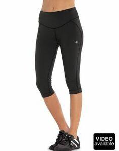 e3b0e145322 Champion Shape® Fitted Women s Knee Pants Size  Medium Color  Black