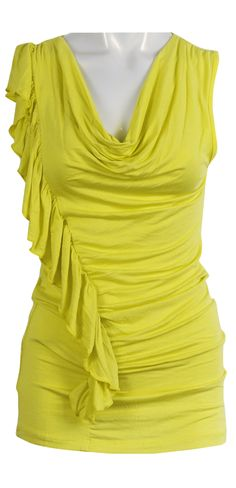 Rouge It Up Top in Yellow by Caroline K. Morgan (CKM Clothing). Available online at Planet Robe:   http://www.planetrobe.com.au/shop-by-brand-online-clothing/caroline-morgan/rouged-up-top-yellow-caroline-morgan.html