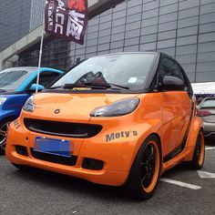 Instagram photo by @ctseele #smartcar #fortwo #tuning #orange