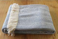 herringbone blanket with fringe - small trades