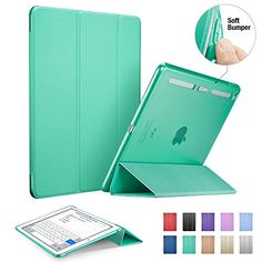 iPad Air 2 Case,iPad Air 2 Cover, ESR Smart Stand Case Cover with Clear Back Shell and Soft TPU Bumper Edge for iPad Air 2/iPad 6th Generation (Light Green) ESR http://www.amazon.co.uk/dp/B011U2AML8/ref=cm_sw_r_pi_dp_VBzvwb0H67KK6