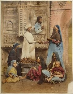 cr 1880 Bazar des Mandarines, Egypt by Zangaki Old Egypt, Egypt Art, Cairo Egypt, Ancient Egypt, Old Pictures, Old Photos, Vintage Photos, Films Western, Westerns