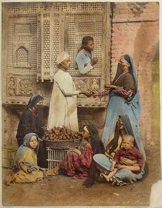"""Bazar des Mandarines"", Egypt ca 1880 by the Zangaki Brothers"