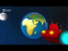 The Solar System: Cartoon animation video by ESA. Join Paxi on a journey through our Solar System, from the rocky inner planets close to the Sun, past the gi. Solar System Planets, Our Solar System, Space Activities For Kids, Dwarf Planet, Closer To The Sun, Shape Puzzles, Computer Lab, Animation, Lessons For Kids