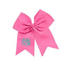 Monogrammed Hair Bow (Color: Hot Pink)