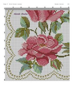 Oil Painting Flowers, Cross Stitch Rose, Vintage Roses, Hand Embroidery, Cross Stitch Patterns, Doll Clothes, Alphabet, Diy And Crafts, Crochet