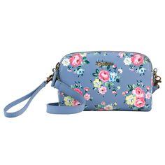 Latimer Rose Printed Mini Leather Double Zip Bag * Cath Kidston