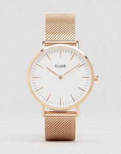 Cluse La Bohème – Roségoldene Mesh-Uhr, CL18112 126€