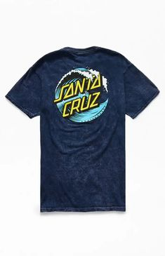 Online Only! Santa Cruz channels a surf vibe to bring you the Wave Dot T-Shirt. This rad tee has a crew neck, short sleeves, and custom brand graphics at the left chest and back. Dad To Be Shirts, Cool Shirts, T Shirts For Women, Santa Cruz Clothing, Santa Cruz Shirt, Pacsun Mens, Dope Shirt, Quality T Shirts, Teenager Outfits