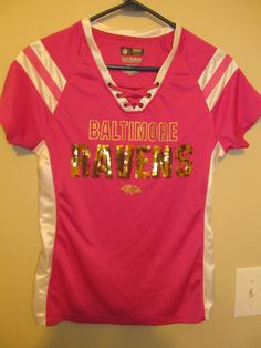 Details about Baltimore Ravens BLING Gold Football jersey - NFL Inc. Women's  small