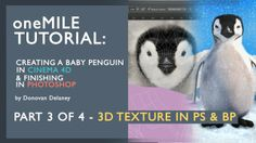 Create a Penguin in Cinema 4D & PS. P3/4 - Texture in Photoshop: In this 4 part tutorial I take you through the key steps I take in order to create my animal images.  This series covers in depth Modeling in Cinema 4D, UVW Unwrapping in Bodypaint, 3D Texture workflows and finally finishing your image in Photoshop.  Download the project assets here: https://www.mediafire.com/?k0rhfp3536tmz1c  Follow my work for daily updates or if you just enjoy my ...