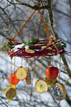 Bird Feeder Craft, Garden Bird Feeders, Bird House Feeder, Bird Feeders For Kids To Make, Diy For Kids, Crafts For Kids, Bird Seed Ornaments, Winter Diy, Homemade Bird Feeders