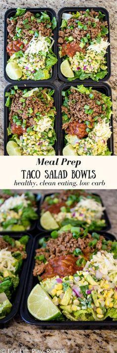 Meal Prep Taco Salad Bowls
