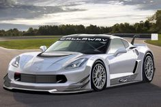2014 Chevrolet Corvette Stingray Callaway GT3 front three quarter view.  Callaway, a company that has produced performance parts for the Corvette and other GM performance cars in the past, was previously the homologation holder for the C6 Corvette GT3 racer. The team has won multiple championships with its C6 GT3 since 2007, and more recently began tinkering with the C7 when its AeroWagon concept debuted earlier this year. Now, Callaway has received authorization from Chevrolet to submit…