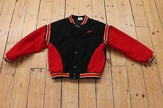 Vintage retro letterman sports jacket college SPEEDO bomber varsity USA XL