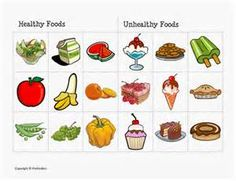Worksheets Classify the food as Healthy or unhealthy and as fruits