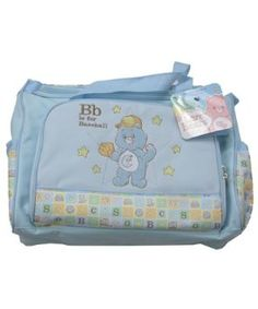 Care Bears Blue B for Baseball Large Baby Diaper Bag + Changing Pad Toddler Themes, Boy Diaper Bags, Baby Changing Pad, Boy Character, Playpen, Care Bears, Baby Names, Baby Boy Outfits, Children's Characters