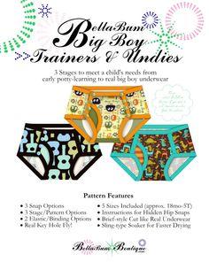 BellaBum Big BoyTrainers and Underwear PDF Sewing Pattern