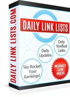 DAILY LINK LISTS - GSA SER Verified Lists! Daily Updated Verified Site & Link Lists for GSA Search Engine Ranker, Xrumer, Scrapebox, Ultimate Demon....