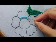 hand embroidery fancy flower stitch with pearl,latest flower embroidery Dear Viewer, Hope you are enjoying my video. This video about: hand embroidery fancy . Hand Embroidery Design Patterns, Diy Bead Embroidery, Embroidery On Kurtis, Basic Embroidery Stitches, Hand Embroidery Videos, Hand Embroidery Flowers, Embroidery Applique, Art Patterns, Japanese Embroidery