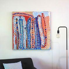 Murdie Nampijinpa Morris, Malikijarra Jukurrpa, 91x91cm - Art Ark Aboriginal and…