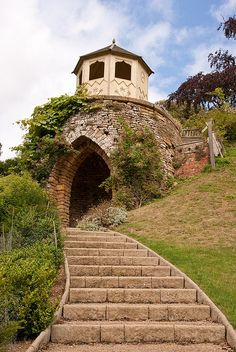 visitheworld:        Garden folly at Belvoir Castle in Leicestershire, England (by plesbit).