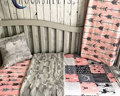 Cozy Minky Bedding made from Cabin in Ozark by Moonsheets on Etsy Baby Crib Sets, Baby Cribs, Girl Nursery, Girl Room, Nursery Room, Nursery Themes, Nursery Ideas, Room Ideas, Decor Ideas