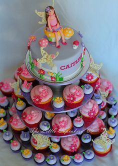 Cute cake to bring to your daughter's next birthday at PowerPlay! Cupcake Birthday Cake, Cupcake Cakes, Fairy Birthday Party, Birthday Ideas, Birthday Parties, Cupcake Arrangements, Fairy Cupcakes, Cute Cakes, Celebration Cakes
