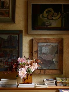 palette, flowers, art