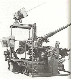 British Hazemeyer 40mm AA mount. Note type 282 radar above and analogue computer on right